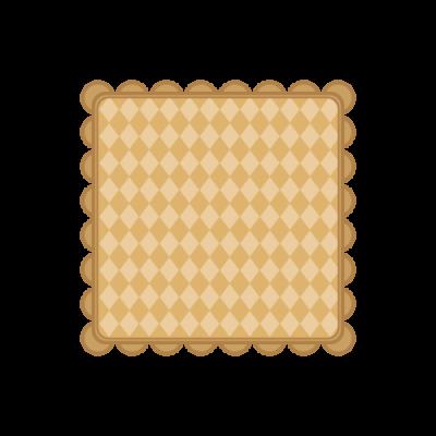 茶色のクッキーのような四角い枠フレーム