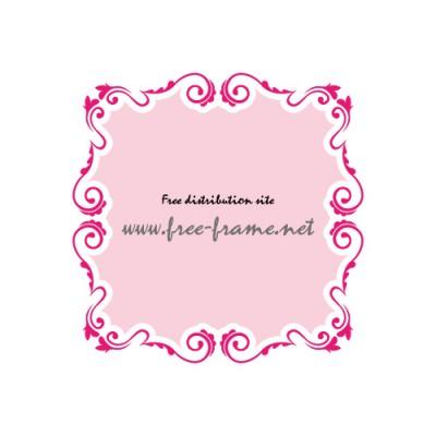 蔦のモチーフで囲まれた、ピンク色の枠フレーム