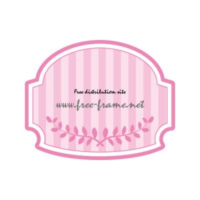 ピンク色のラベル風フレーム