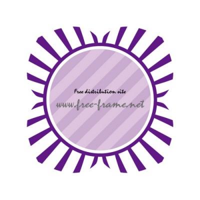 大きな花にも見える紫色の円型フレーム