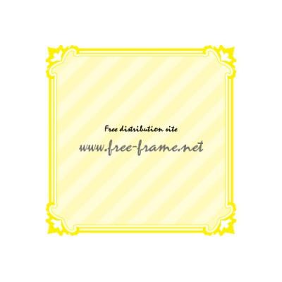 黄色の四角い飾り枠フレーム