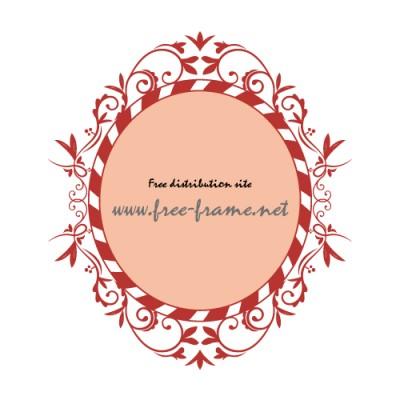 西洋的な草のイラスト飾り枠フレーム