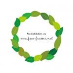 緑々しい葉っぱのイラスト飾り枠フレーム