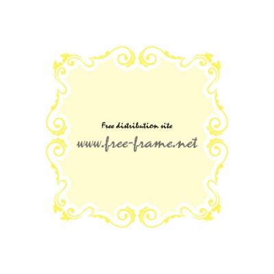 黄色のナチュラルなイラスト飾り枠フレーム