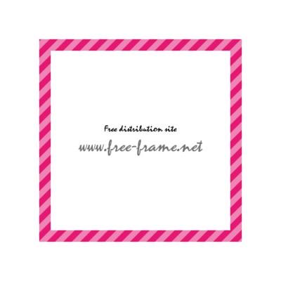 ピンク色の斜線、スクウェアフレーム