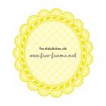 黄色の楕円オーバル・枠