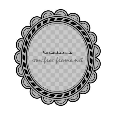 黒色の楕円オーバル・枠