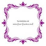 ハートの入った紫色のクラシカルな四角フレーム・枠