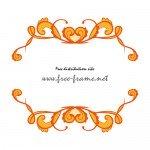 オレンジベースのハートが飾られた可愛らしい上下フレーム