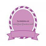 紫色の帯付きオーバル・枠