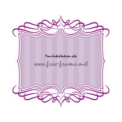 紫色の軽やかなラインが重なる上下・枠