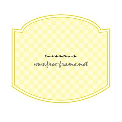 黄色のラベルフレーム