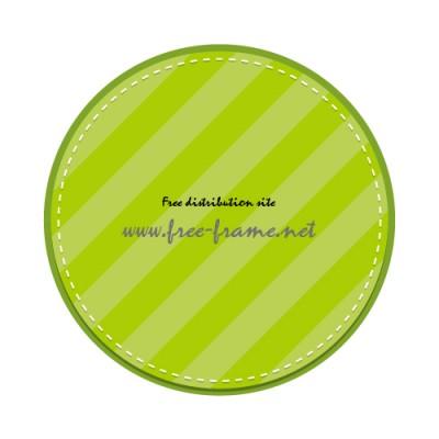 グリーン配色の丸枠フレーム