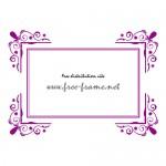 紫色の西洋風、角枠フレーム