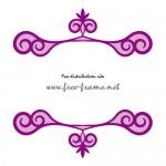 紫色の渦のイラストの入った、上下フレーム