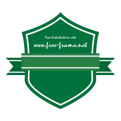 緑色のリボン付きラベル