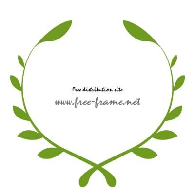 植物のイラスト円形フレーム