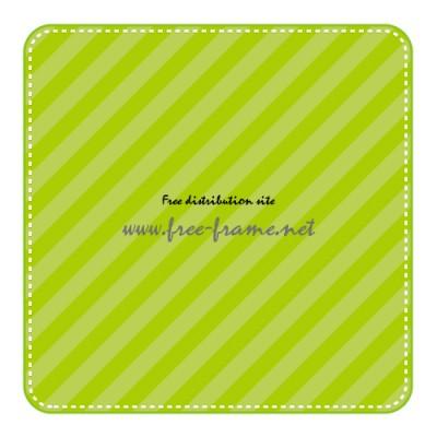 緑色の四角形フレーム・枠素材