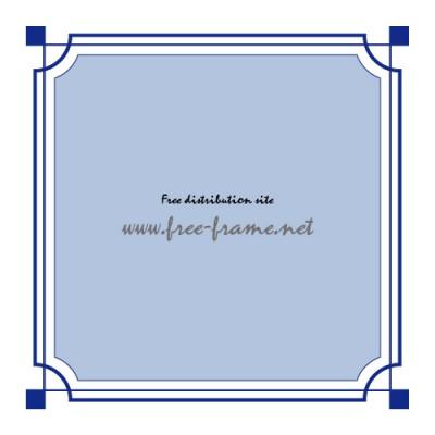 青色のシンプルな四角枠線フレーム枠