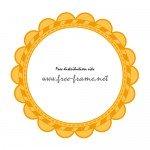 オレンジ色の花のような円形枠・フレーム