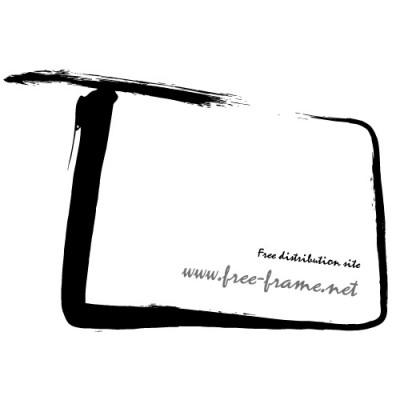いびつな四角の毛筆・枠フレーム