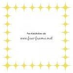 黄色のキラキラ・トゲトゲの四角枠フレーム