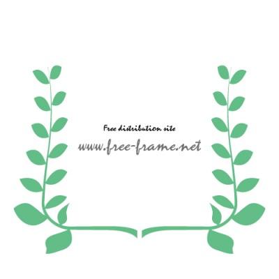 植物のイラスト左右フレーム・枠