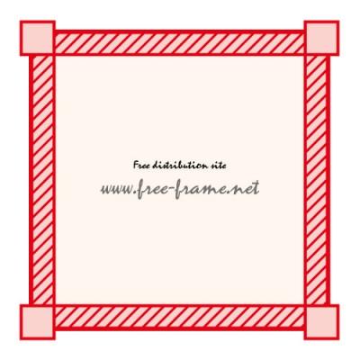 赤色のシンプルな四角フレーム・枠