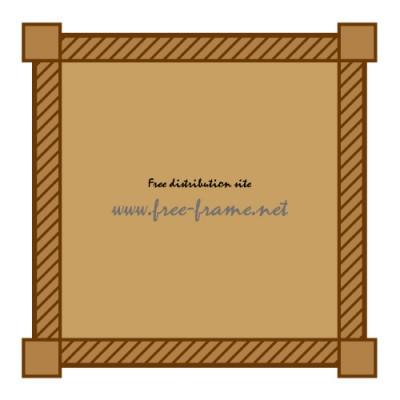 茶色のシンプルな四角フレーム・枠