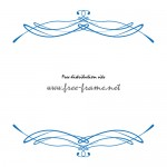 クラシカルなブルーのラインでできた上下フレーム・枠
