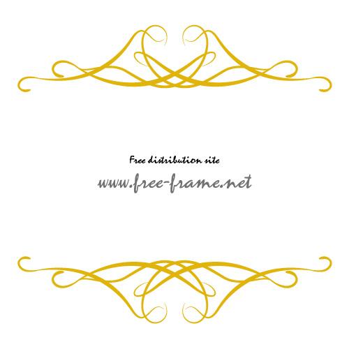 軽やかなラインの重なる黄色の上下フレーム・枠