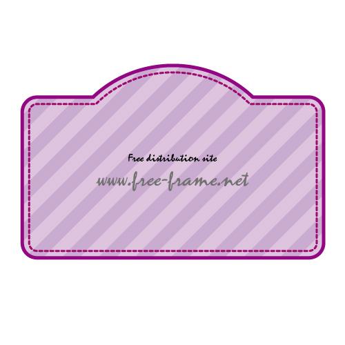 紫色のラベルフレーム・枠