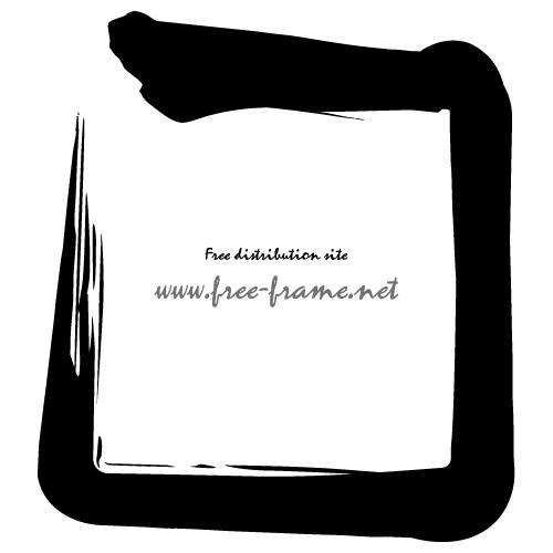 毛筆の四角フレーム・枠
