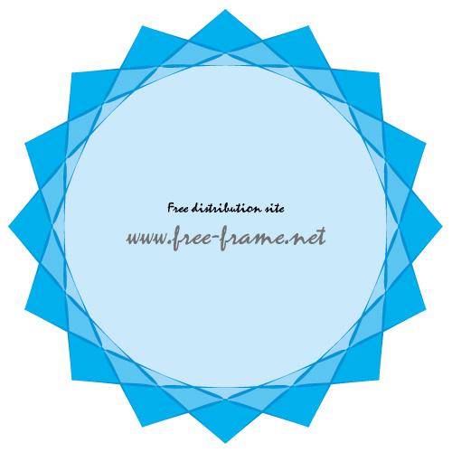 青いクリスタルのようなイラストフレーム・枠