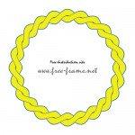 縄のように絡み合った黄色の円形フレーム・枠