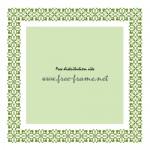 アジアンテイストの緑色の四角フレーム・枠