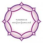 ちょっと棘のある紫色の円形フレーム・枠