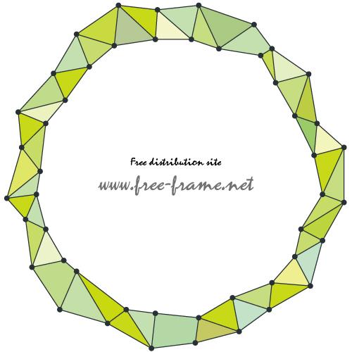緑色のジオメトリック円形フレーム・枠