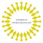 黄色の円形フレーム・枠