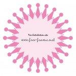 ピンク色の円形フレーム・枠