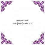 クラシカルな紫色の四隅フレーム・枠