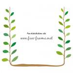 植物のイラストフレーム・枠