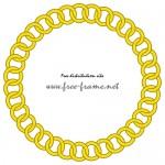 黄色いチェーンの円形フレーム・枠
