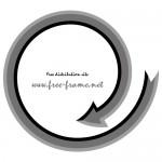 黒い矢印の円形フレーム・枠