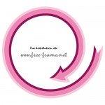 ピンク色の矢印の円形フレーム・枠