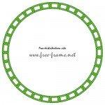 緑色の鎖が連なる円形フレーム・枠
