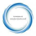 青い渦状の円形フレーム・枠