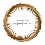 ブラウンカラーの渦状の円形フレーム・枠