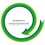 緑色の矢印の円形フレーム・枠