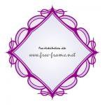 紫色のクラシカルな四角フレーム・枠